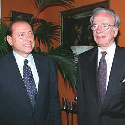 Silvio Berlusconi e Rupert Murdoch.
